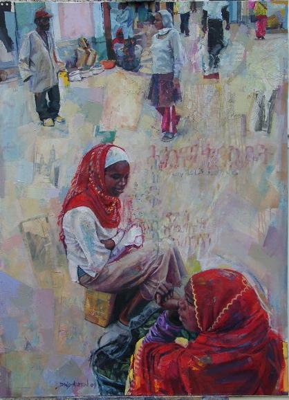 Somali Women On Market Road